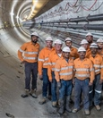 The tunnelling team in Tunnel one - October 2018