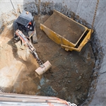Excavation underway at Wright Crescent emergency egress shaft (2) - September 2018