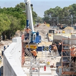 Construction of the Midland Line retaining wall at Bayswater Junction continues - February 2019