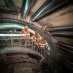Tunnelling crew for TBM Sandy in Tunnel 2 - April 2019