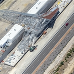 Aerial view of Forrestfield Station roof installation - January 2020
