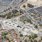 Aerial view of Redcliffe Station site - January 2020