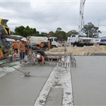 Eastern ground slab pour - February 2020