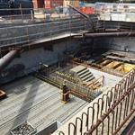 Eastern mezzanine level construction - October 2019