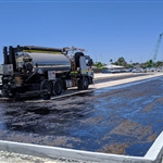 Redcliffe Station car park asphalting - December 2019