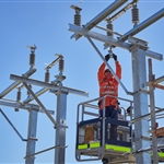 Bayswater Junction overhead line equipment installation - October 2020