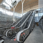 Airport Central Station main escalator - January 2021
