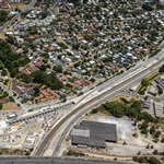Aerial view of Bayswater Junction - January 2021