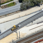 Midland Line overpass sleeper placement - January 2021