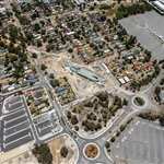 Aerial view of Redcliffe Station and car park - January 2021