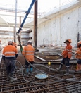 Pouring concrete for the base slab at Redcliffe Station - September 2018
