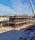 Construction of Forrestfield Station portal building lift shaft - February 2019
