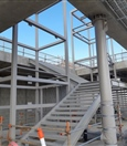 Stair installation between platform and concourse levels at Forrestfield Station – August 2019
