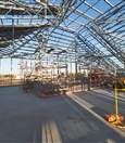 Station roof frame at concourse level - January 2020