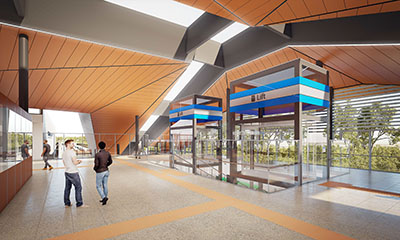Forrestfield Station - ticketing and lifts