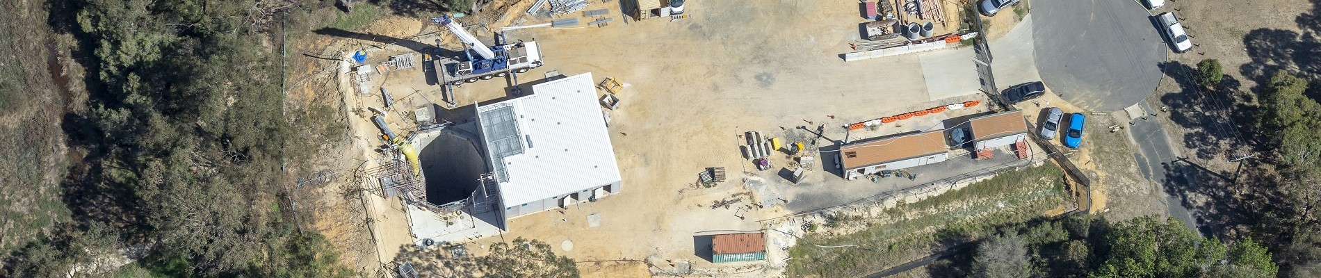 Aerial view of Wright Crescent Emergency Egress Shaft